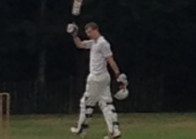 Charlie celebrating his century